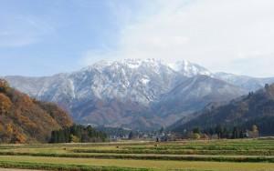 新雪の八海山